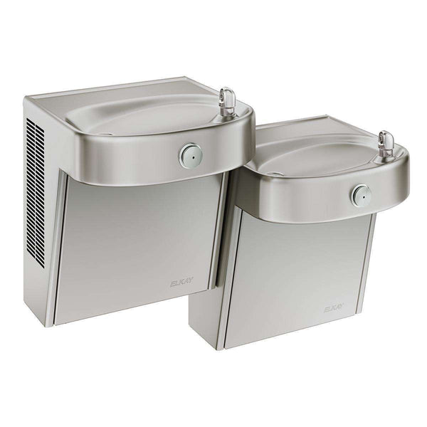 Elkay VRCHDTL8SC Coolers Wall Mount Bi-Level ADA Non-Filtered 8 GPH Stainless