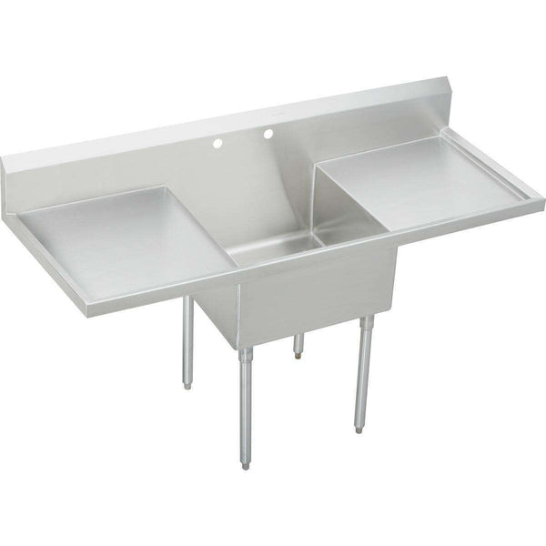 "Elkay WNSF8124LR2 Weldbilt SS 72"" x 27-1/2"" x 14"" Floor Single Scullery Sinks with Drainboard"