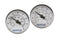 Uponor A2771050 Stainless-steel Manifold Temperature Gauge, set of 2