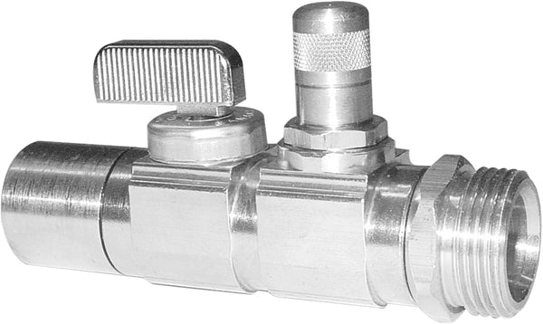 "Uponor A5902075 Ball and Balancing Valve, R20 Thread x 3/4"" Copper Adapter"