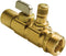 "Uponor A5902575 Ball and Balancing Valve, R25 Thread x 3/4"" Copper Adapter"