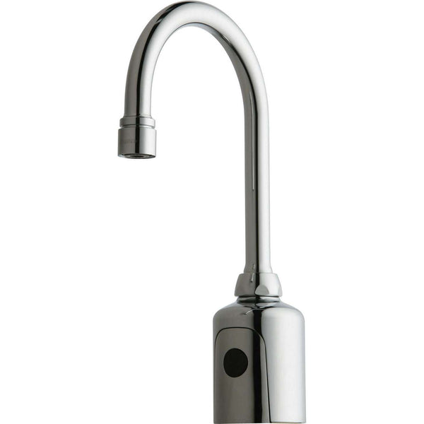 Chicago Faucets | HyTronic Gooseneck Faucet with Dual Beam Infrared Sensor, Polished Chrome | 116.203.AB.1