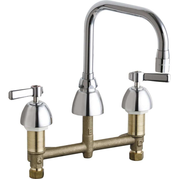Chicago Faucets 201-Adb6Ae3Abcp Kitchen Sink Faucet W/O Spray