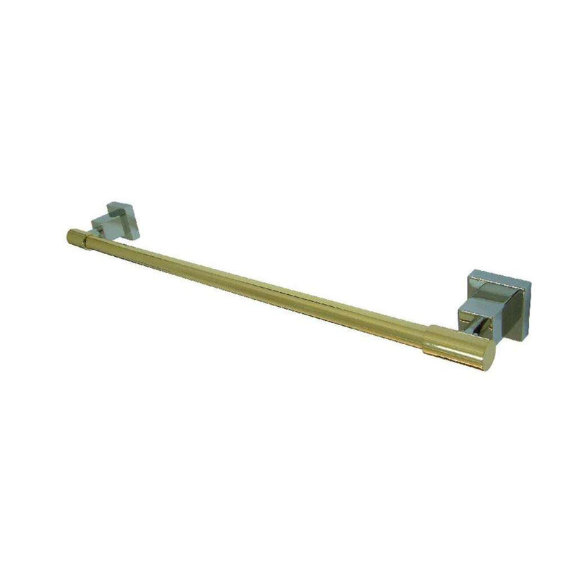 Kingston Brass BAH8642CPB 18-Inch Towel Bar, Polished Chrome/Polished Brass