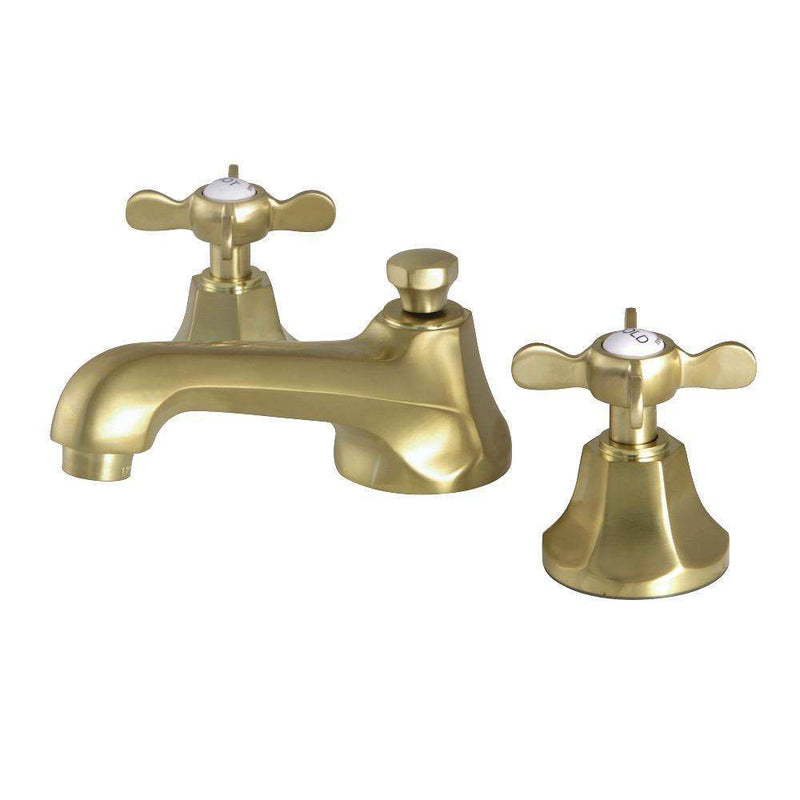 "Kingston Brass KS4467BEX Essex 8"" Widespread Bathroom Faucet, Brushed Brass"