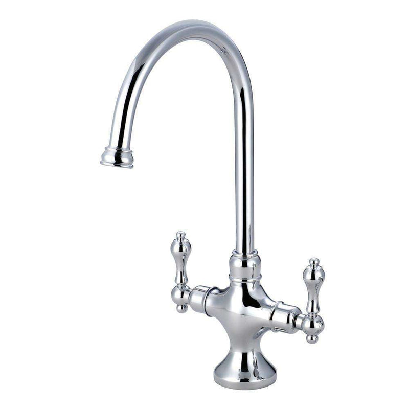 Kingston Brass KS1761ALLS Vintage Kitchen Faucet Without Sprayer, Polished Chrome