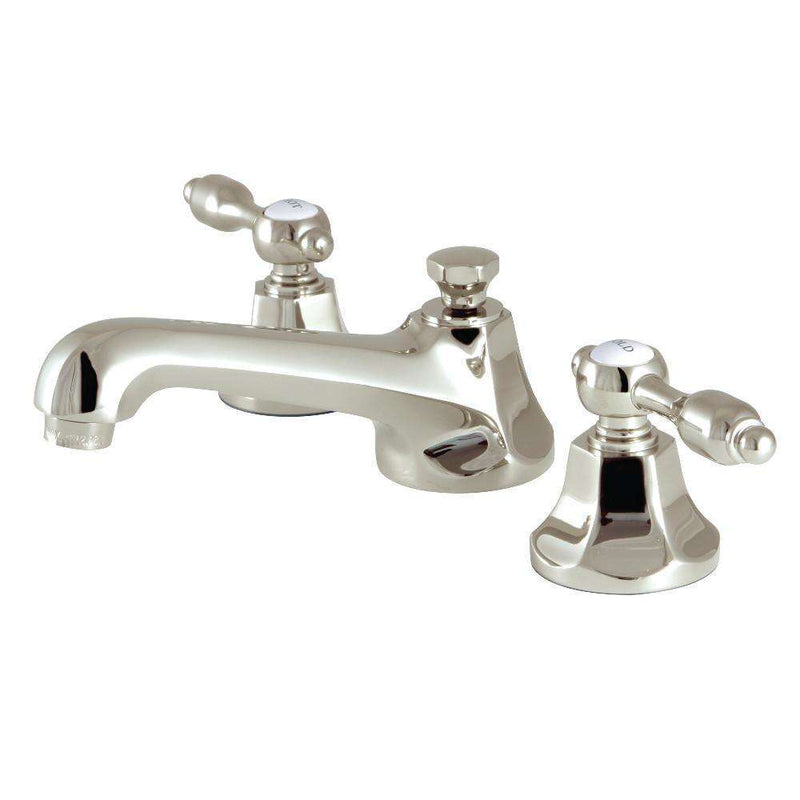 "Kingston Brass KS4466TAL Tudor 8"" Widespread Bathroom Faucet, Polished Nickel"