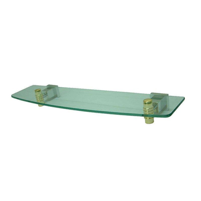 Kingston Brass BAH4649CPB Glass Shelf, Polished Chrome/Polished Brass