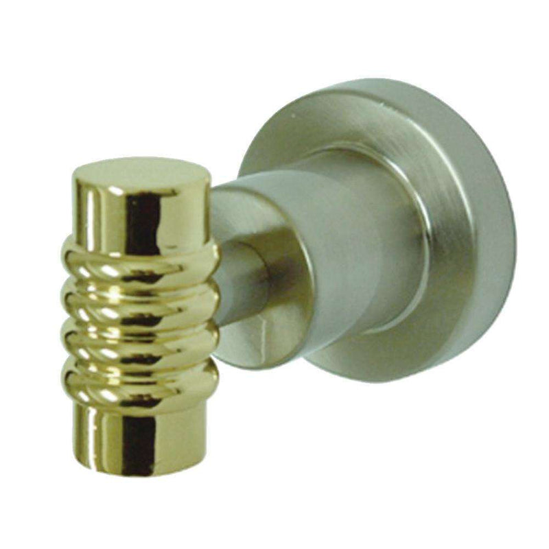 Kingston Brass BAH8617SNPB Robe Hook, Brushed Nickel/Polished Brass