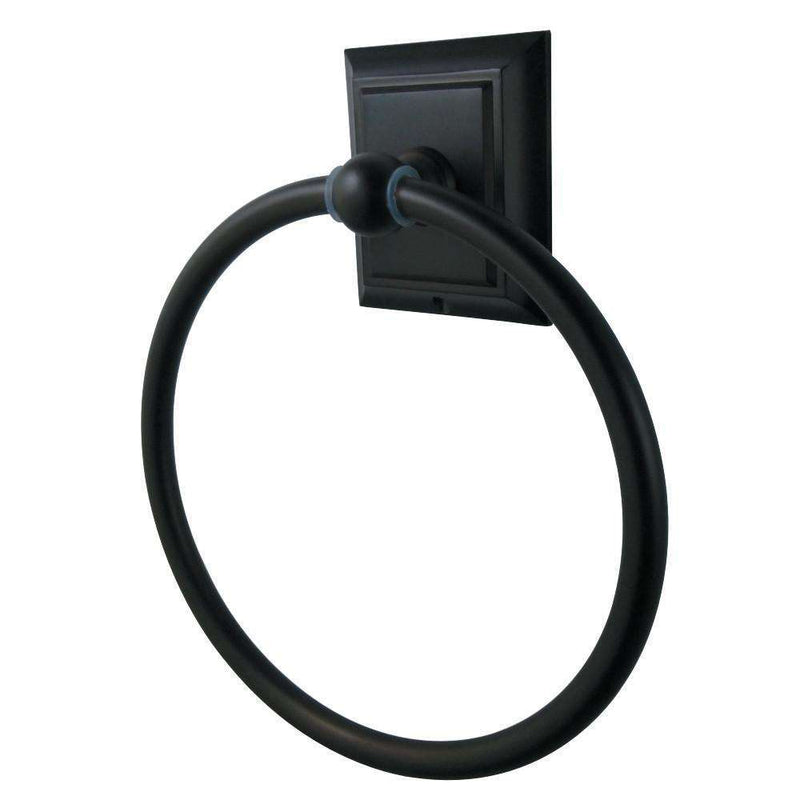 Kingston Brass BA6014ORB Millennium Towel Ring, Oil Rubbed Bronze