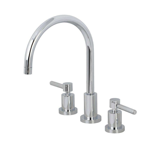 Kingston Brass KS8721DLLS Widespread Kitchen Faucet, Polished Chrome