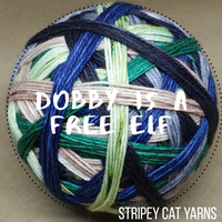 Dobby is a free elf - self striping sock yarn with 20g mini skein
