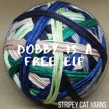 Dobby is a free elf - self striping sock yarn with optional 20g mini skein