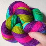 Snap Dragon self striping sock yarn with optional 20g mini skein