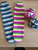 What A Melon self striping sock yarn with optional 20g mini skein