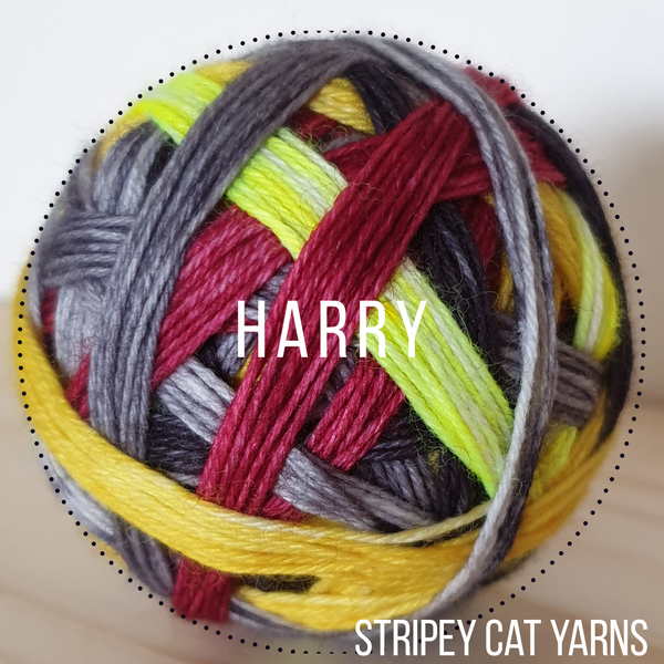 Harry self striping sock yarn with 20g mini skein