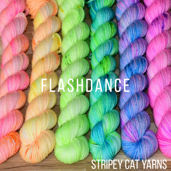 Flash Dance 6x20g mini skeins - speckled neon mini skeins
