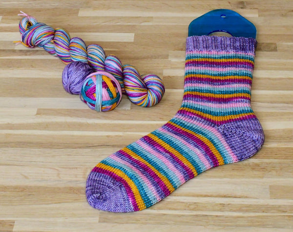 Celebrate self striping sock yarn with optional 20g mini skein