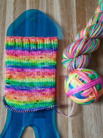 Flash Dance self striping sock yarn with 20g mini skein