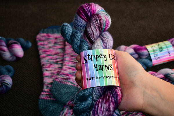 Luna Speckled Sock Set with 20g Mini Skein