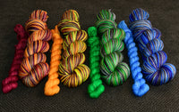 Slytherin - self striping sock yarn with 20g mini skein