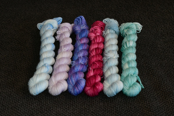 OOAK I Smell Snow (tonal) Mini Skein Set 6x20g
