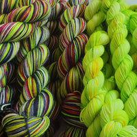 The Grinch - self striping sock yarn with optional 20g mini skein