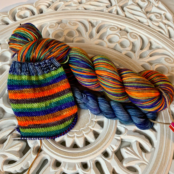 Time Turner Self Striping Sock Yarn with 20g Mini Skein