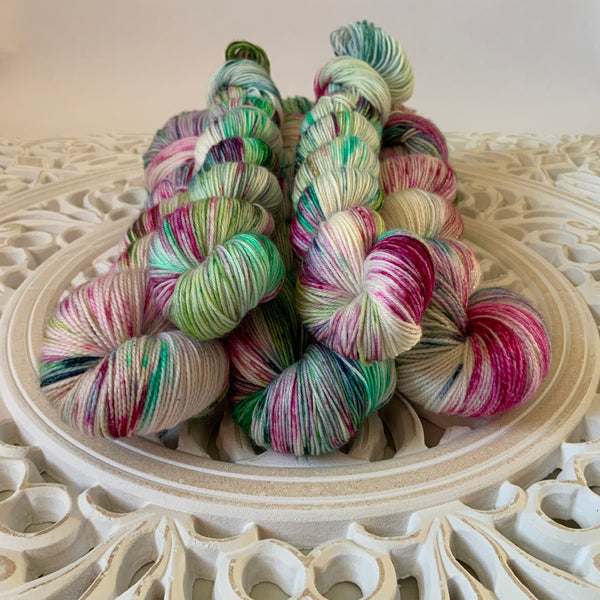 Apple Blossom Sock Set with 20g Mini Skein
