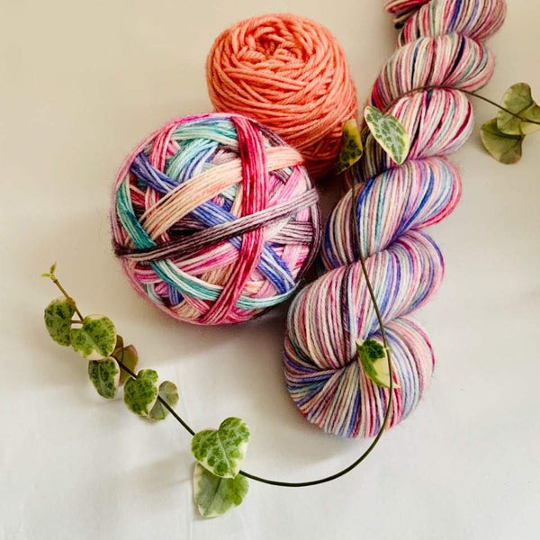 Dream Catcher - self striping sock yarn with 20g mini skein