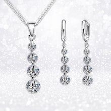 "Load image into Gallery viewer, ""Classic Sparkle"" Crystal Necklace & Earrings Set"
