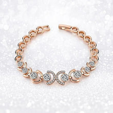 Load image into Gallery viewer, Rose Gold and Ice Bracelet