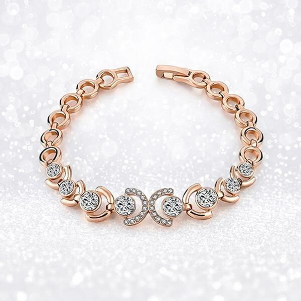 Rose Gold and Ice Bracelet