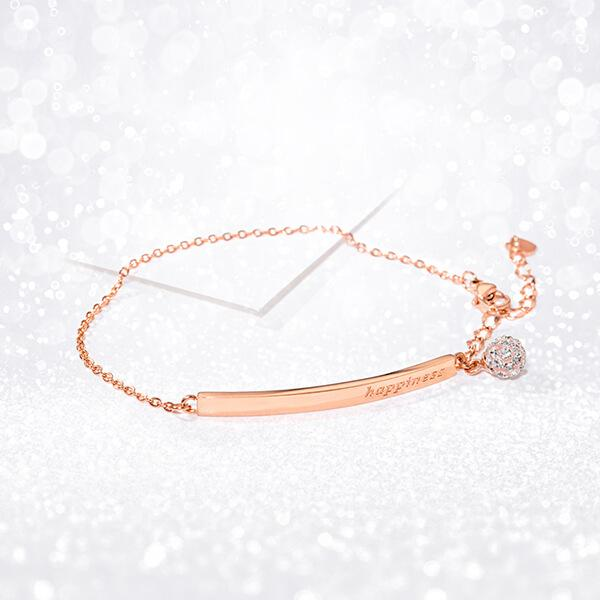 Happiness - Half Bangle Bracelet