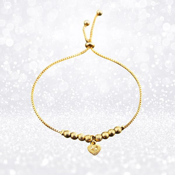 Heart of Gold Adjustable Bracelet