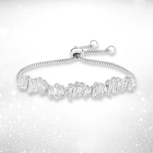 Load image into Gallery viewer, Baguette Crystal Adjustable Bracelet