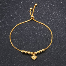 Load image into Gallery viewer, Heart of Gold Adjustable Bracelet