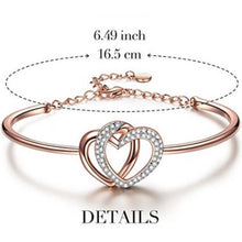 Load image into Gallery viewer, Twin Hearts Adjustable Bracelet