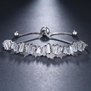 Baguette Crystal Adjustable Bracelet Trio
