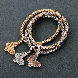 """BUTTERFLY"" CHARM BRACELET WITH AUSTRIAN CRYSTALS"