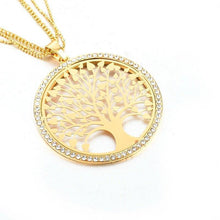 Load image into Gallery viewer, 3 Sets of Tree of Life - Pendant Necklace With Rhinestones
