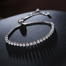 Load image into Gallery viewer, Rhinestone Adjustable Tennis Bracelet