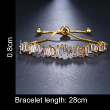Load image into Gallery viewer, Baguette Crystal Adjustable Bracelet Trio