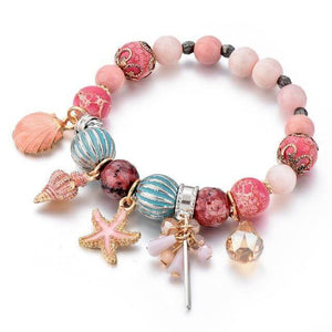 Seaside Summer Beaded Bracelet