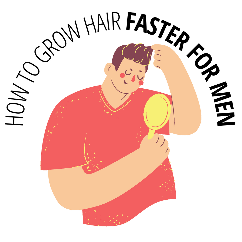 how to grow hair faster for men with guy touching his hair