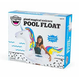 Giant Sparkly Rainbow Unicorn Pool Float