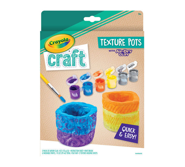 Crayola Air Dry Clay Texture Pots