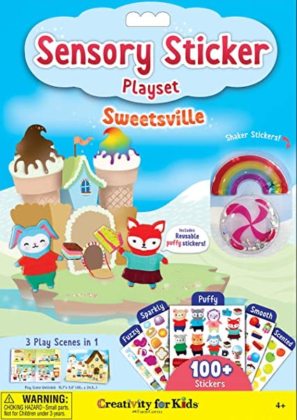 Sensory Stickers Playset - Sweetsville