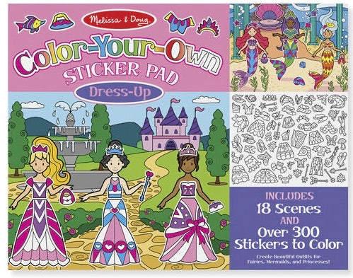 Color Your Own Sticker Pad - Dress Up
