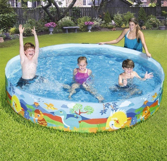 "96"" x 18"" Dinosaur Fill 'n Fun Kiddie Pool"